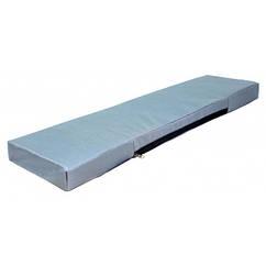 Мягкое сиденье для лодки серое 1000х200х50