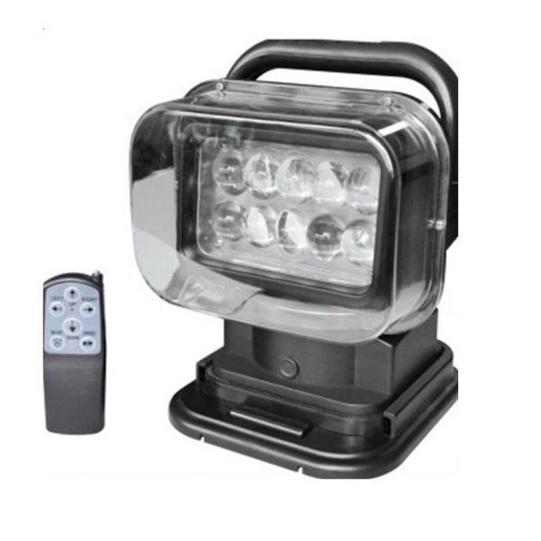 Прожектор судовой поисковый для катера и лодки LED 523 точечный черный 3200lm 50W