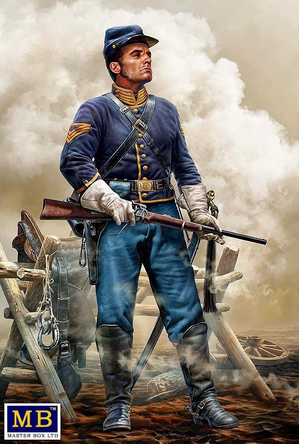 На страже. Серия Гражданской войны в США. 1/35 MASTER BOX 35197