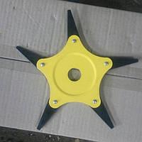 Нож сегментный для мотокосы триммера бензокосы 5Т каленный + воронение