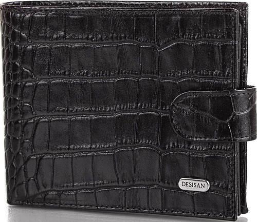 Мужское стильное кожаное портмоне DESISAN (ДЕСИСАН) SHI080 черный
