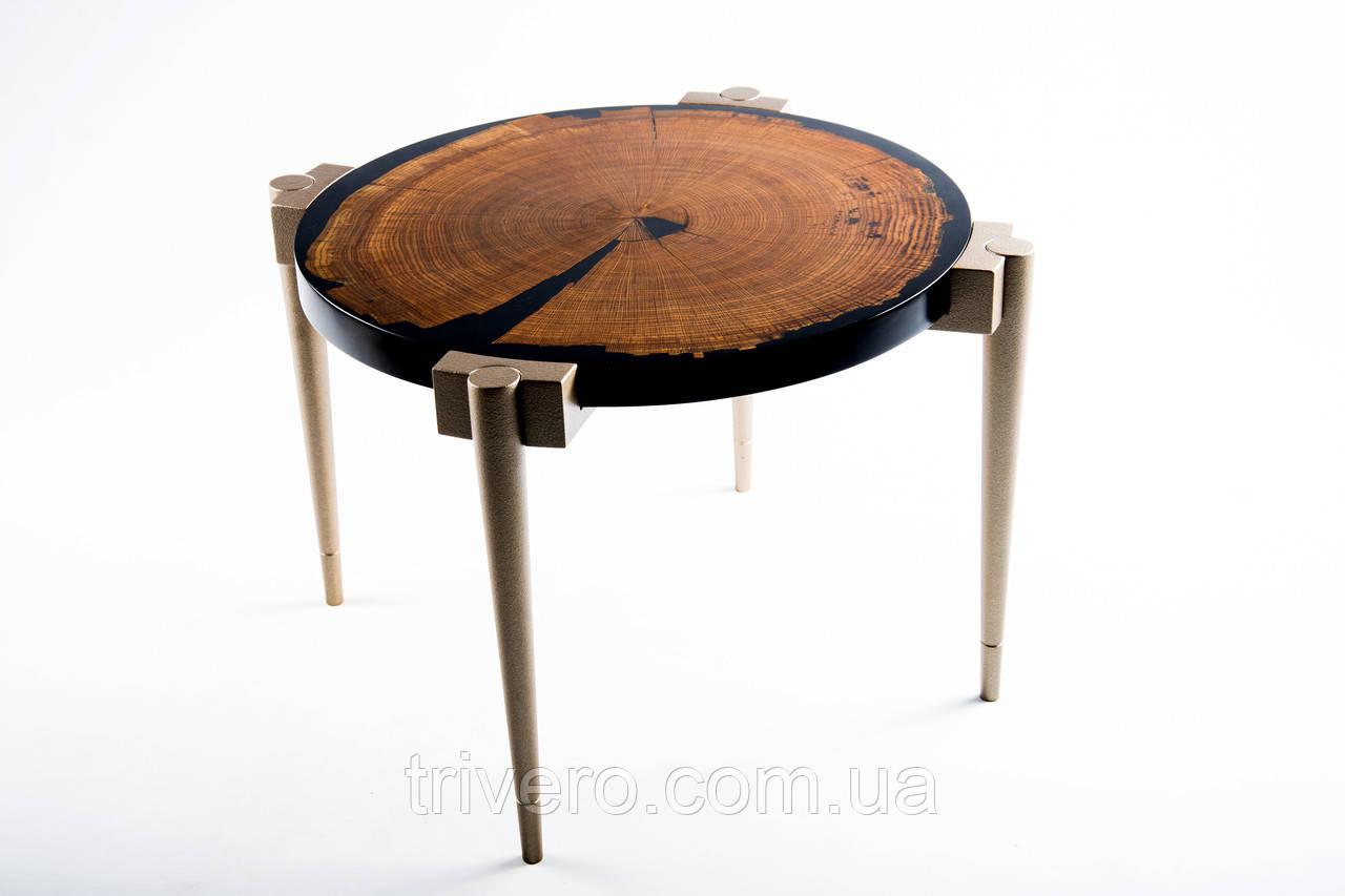 Кофейный столик слэб дуба и эпоксидная смола