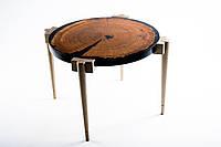 Кофейный столик слэб дуба и эпоксидная смола, S-18041