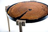 Кофейный столик слэб дуба и эпоксидная смола, фото 3
