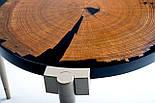 Кофейный столик слэб дуба и эпоксидная смола, фото 4