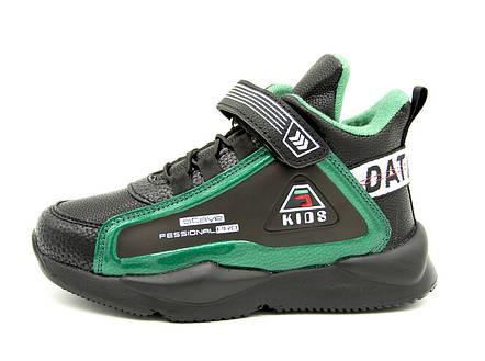 Кроссовки для мальчика черно-зеленые Размеры: 34, фото 2