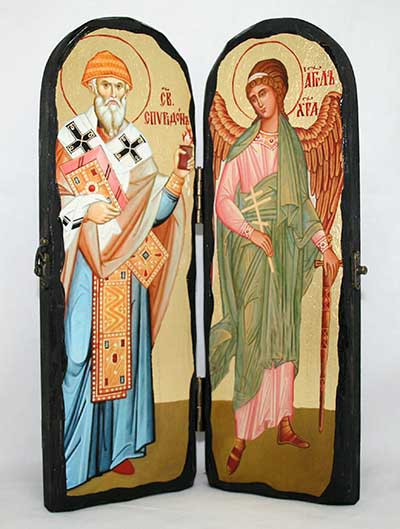 Складень Спиридон и Ангел-Хранитель 300х200