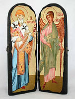 Складень Спиридон и Ангел-Хранитель 300х200, фото 1