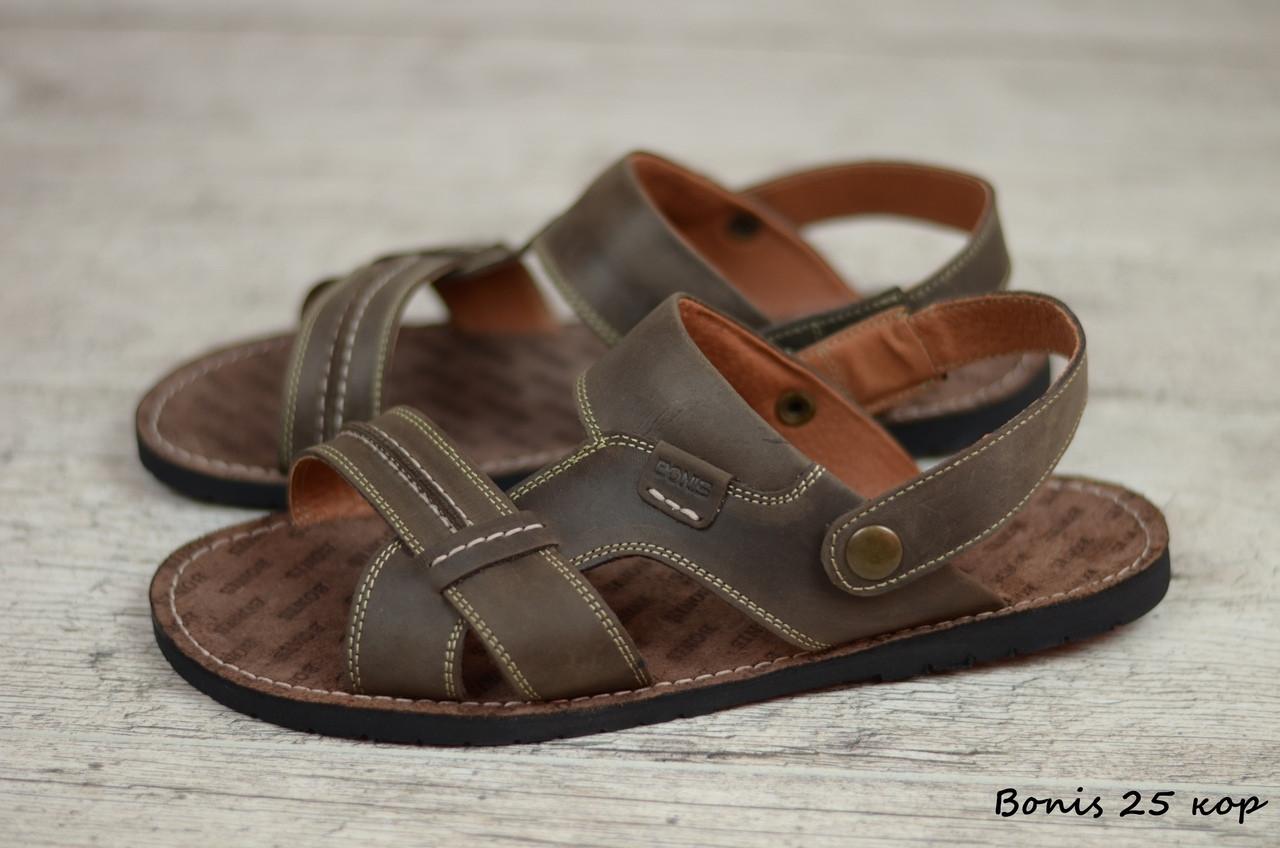 Мужские кожаные сандалии, босоножки Bonis  (Реплика)  (Код:  Bonis 25 кор  ) ► [39,40,41,42,43,44,45]