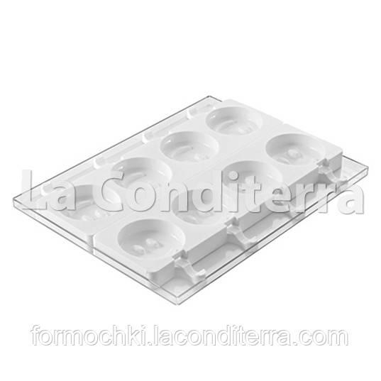 Силиконовые формы для десертов SILIKOMART MR FUNNY GEL07 (8 ячеек, объем=800 мл)
