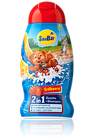 SauBär 2 in 1 Dusche + Shampoo Erdbeere гель для купания и шампунь 250мл
