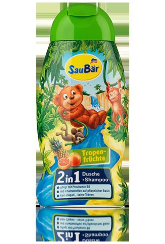 SauBär Dusche + Shampoo Tropenfrüchte гель для купания и шампунь тропический микс 250мл