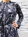 Платье женское принт турецкий огурец синее, фото 3