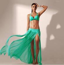Пляжная ментоловая юбка 42-46 размер, длина 88-90см, 95% полиэстер, 5% спандекс