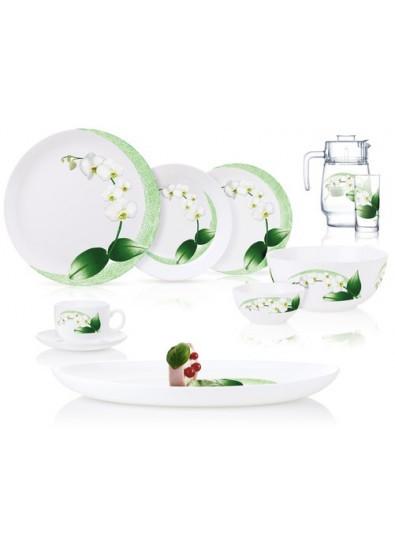 Сервиз Luminarc Diwali White Orchid из 46 предметов на 6 персон