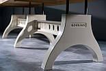 Большой стол в индустриальном стиле, фото 4