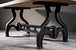 Стіл з горіха в індустріальному стилі, фото 3