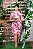 Женское летнее платье белое п- 6193, фото 3