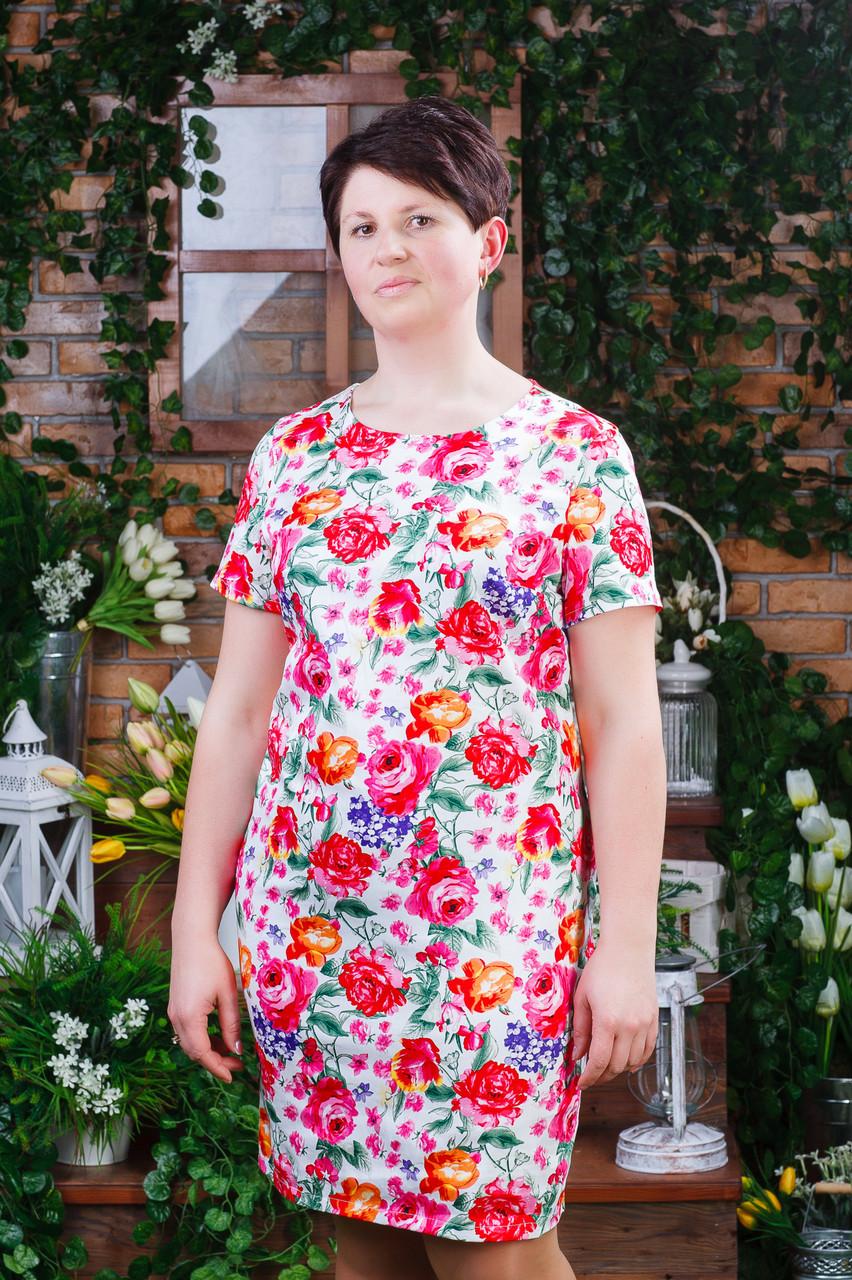 Женское летнее платье белое п- 6193