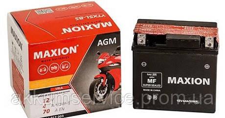 Аккумулятор мото MAXION AGM YTX 5L-BS (12V, 5A)