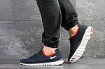 Чоловічі кросівки Nike Free Run 3.0 ( темно-синій, з білим ), фото 2