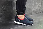 Мужские кроссовки Nike Free Run 3.0 ( темно-синий, с белым ) , фото 3