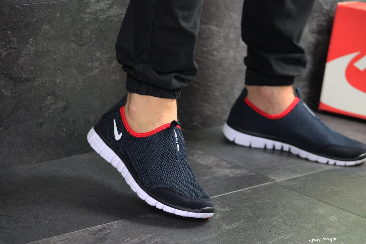 Мужские кроссовки Nike Free Run 3.0 ( темно-синий, с белым )