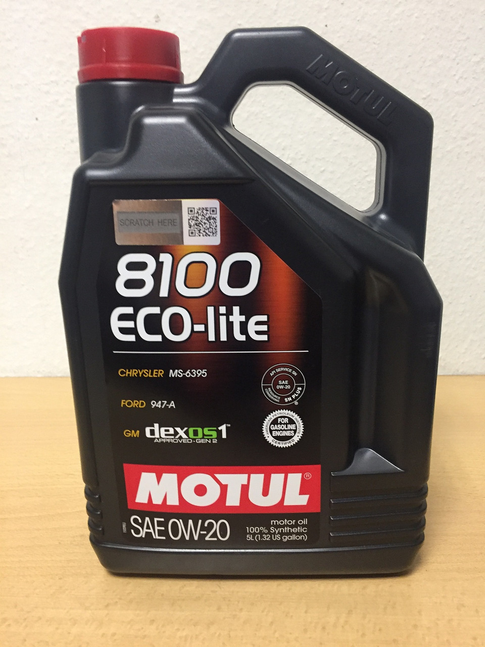 Масло Motul 8100 Eco-Lite 0W-20 5л (104983/108536)