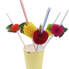Коктейльная трубочка с фруктами 25 штук