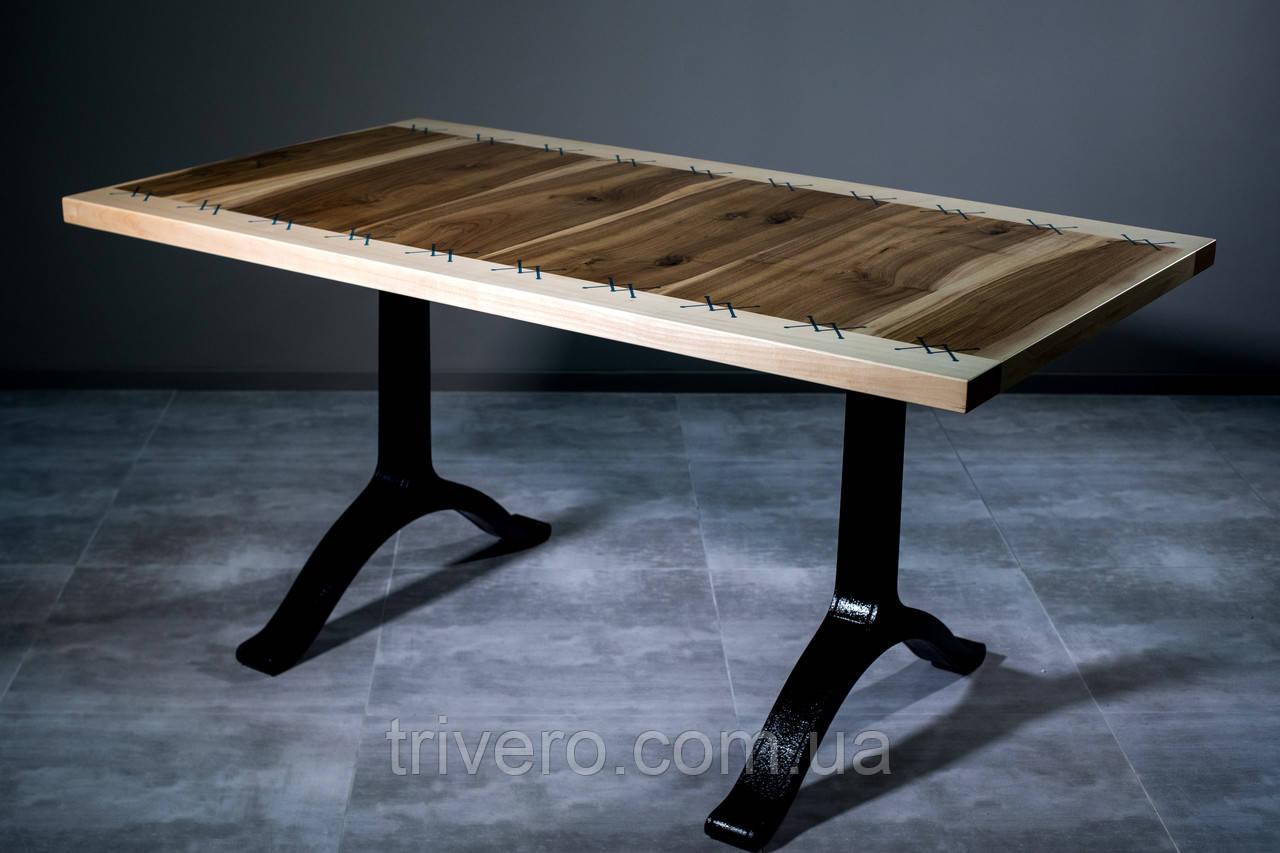 Молодежный стол  со светящимися элементами орех