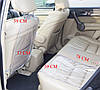 Защита на спинку сиденья в машину + на сидушку (серый), фото 2
