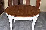Класичний білий обідній стіл з масиву дерева, фото 4