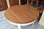 Класичний білий обідній стіл з масиву дерева, фото 6
