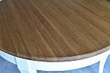 Класичний білий обідній стіл з масиву дерева, фото 7