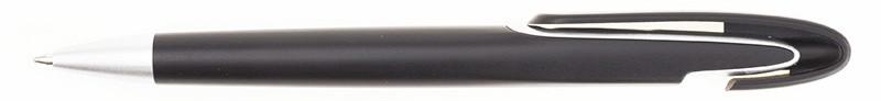 Ручка ber2012B пластиковая, черная, от 100 шт
