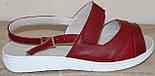 Босоножки красные женские большого размера кожаные от производителя модель ВБ502-1, фото 2