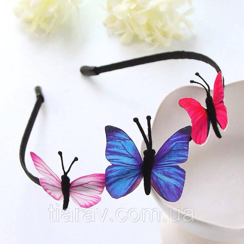 Обруч для волос с бабочками, детский обруч для волос