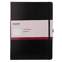 Записная книга блокнот Axent 295x210мм 100л клетка,черный Partner Grand 8203-01-a