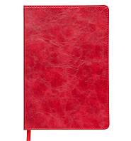 Записная книга блокнот Buromax BELLAGIO LOGO2U А5 искусств. кожа 96л. клетка красный BM.29521101-05