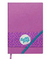 Записная книга блокнот Buromax LOLLIPOP LOGO2U А5 искусств. кожа 96л. клетка розовый BM.295103-10