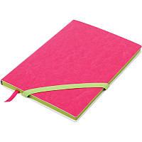Записная книга блокнот Buromax LOLLIPOP А5 искусств. кожа 96л. без разметки,  розовый BM.295003-10