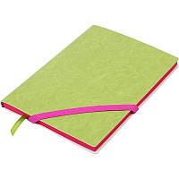 Записная книга блокнот Buromax LOLLIPOP А5 искусств. кожа 96л без разметки, салатовый BM.295003-15