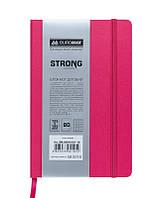 Записная книга блокнот Buromax STRONG LOGO2U 125x195мм искусств. кожа 80л. клетка розовый BM.2991210
