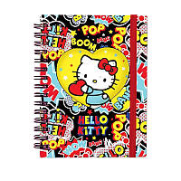 Записная книга блокнот Kite Hello Kitty А6,80л.,вырубка HK19-229
