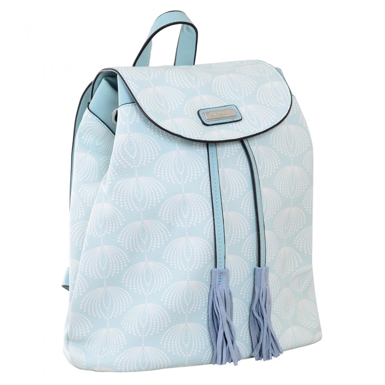 Рюкзак женский YES Weekend YW25 из экокожи 17*28.5*15 см голубой (555872)