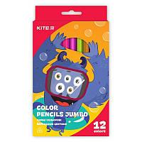 Карандаши цветные Kite Jumbo 12цв трехгранные Jolliers K19-048-5
