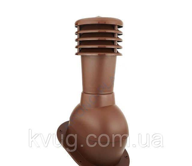 Вентиляционный выход Kronoplast KPI для готовой кровли не утепленный D-125 мм коричневый