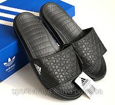 Шлепки мужские Adidas черные Репилка шикарного качества