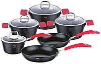 Набор посуды Berlinger Haus Black Stone Touch Line BH 1169 (10 предметов)