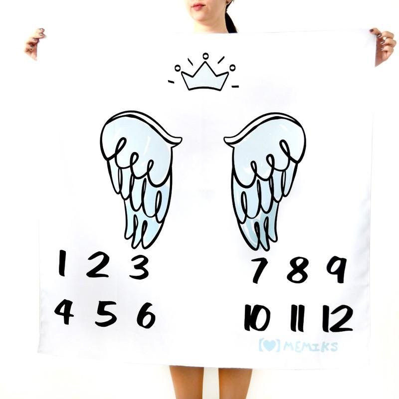 """Фотофон-пеленка для детских фотосессий по месяцам """"Принц"""""""